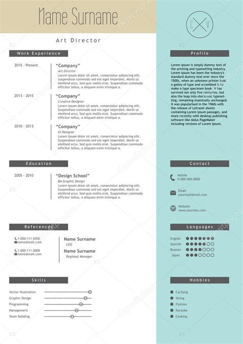 top model web templates for 2017 vector creative resume template minimalist style cv