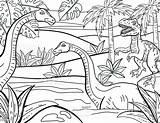 Coloring Dinosaurs Adult Drawn Istock Dino Ausgestorbene Tierart Colorare Illustrazioni Ilustraciones Colorear sketch template