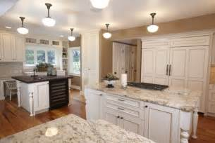 Kitchen Paint Colors With Pickled Oak Cabinets by White Ice Granite Granite Countertops Granite Slabs