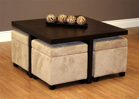 Stool Table by Coffee Table With Stools Underneath House