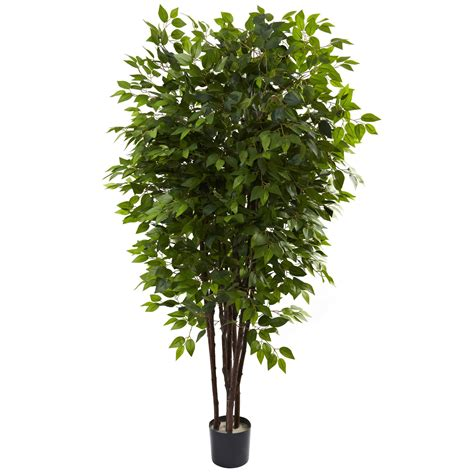 6 5 foot artificial deluxe ficus tree potted 5402