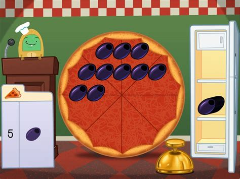 subtraction pizza party math game