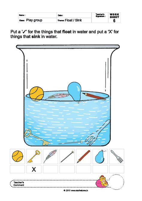 uncategorized sink or float worksheet klimttreeoflife