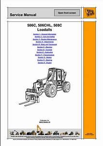 Jcb 506c 506chl 508c Loadalls Telescopic Handler Service