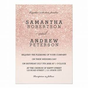 the 25 best ideas about rose gold ombre on pinterest With wedding invitations gold writing
