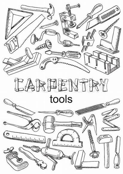 Tools Drawing Carpentry Vector Tattoo Tool Illustration