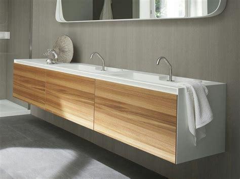 muebles bajo lavabo mueble bajo lavabo suspendido de corian con puertas