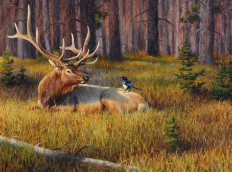 elk painting  cliff rossberg hunting art wildlife