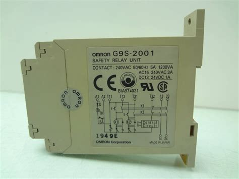 omron g9s 2001 safety relay unit emergency relay