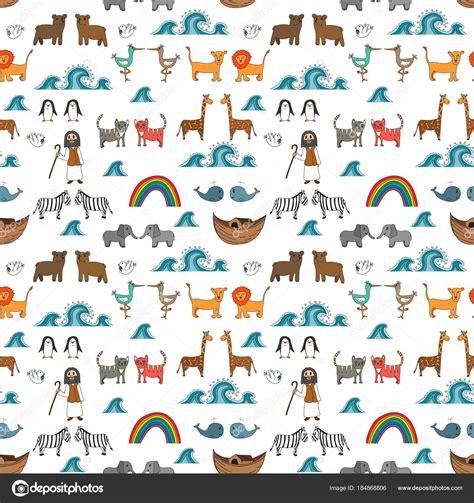 historia arca de no en dibujos dibujos biblicos noah story 294 | depositphotos 184868806 stock illustration vector seamless pattern noah ark