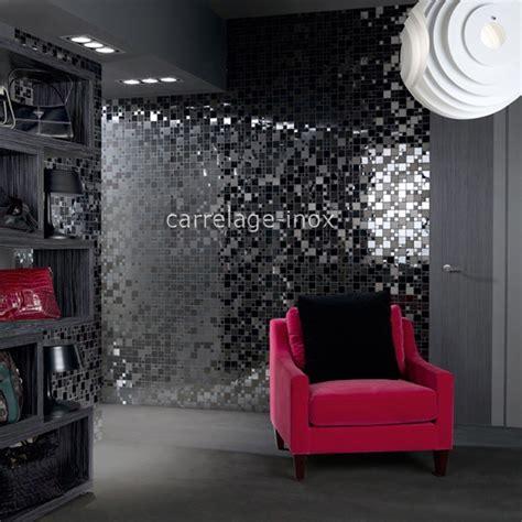 mosaique cuisine mosaique en inox noir mat et miroir crédence cuisine oken