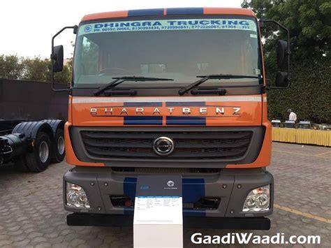 range  bharat benz heavy duty trucks launched  india
