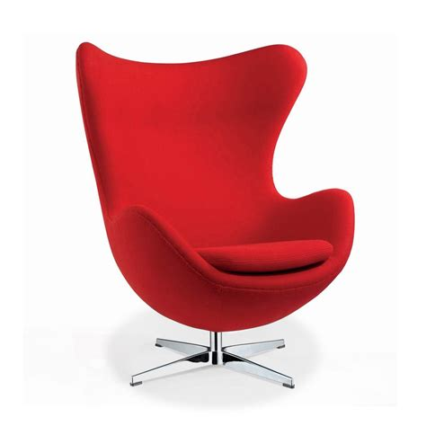 arne jacobson style egg chair in wool artis décor