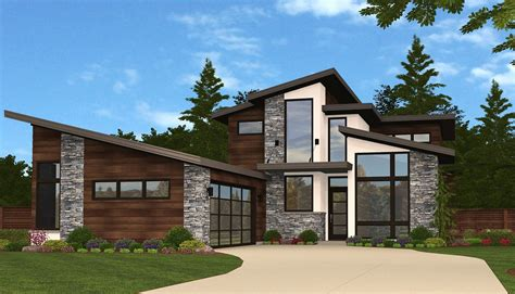 Slimmed Down Exclusive 3 Bed Modern House Plan 85135MS