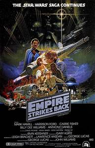 STAR WARS EMPIRE STRIKES BACK Movie Poster Art Return Jedi ...