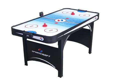 air hockey table game sportcraft 66 quot electronic air hockey table with table