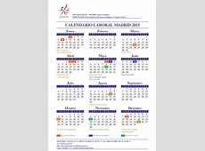 Calendario laboral 2015 Madrid, Barcelona, Valencia