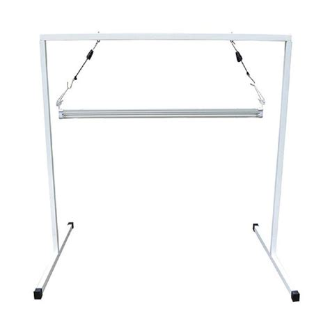 viavolt t5 4 ft steel white powder coated light stand with v41 fluorescent grow light fixture