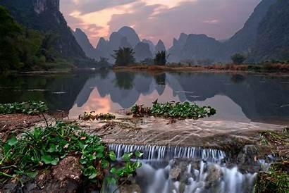 Yangshuo China County Mountains Landscape Nan Lost