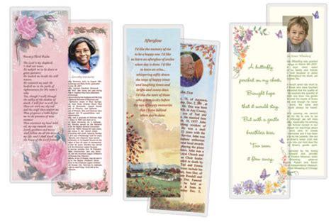 obituary bookmarks  printable printableecom