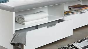 Bettbank Mit Stauraum : bettbank virgo sitzbank in wei mit polster hellgrau ~ Watch28wear.com Haus und Dekorationen