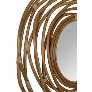 Miroir En Rotin : miroir en rotin kubu par ~ Nature-et-papiers.com Idées de Décoration