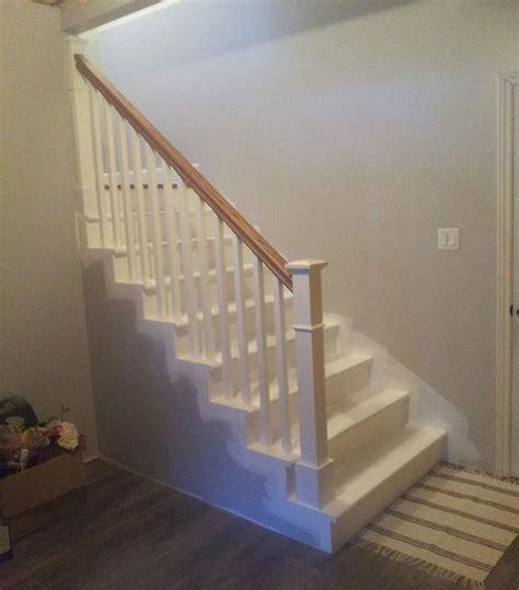 installation de la rampe descalier au sous sol tuto etape