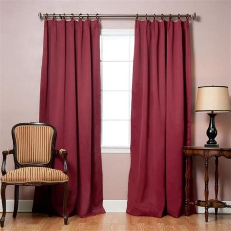 Pleated Thermal Drapes - burgundy pinch pleat thermal insulated blackout curtains