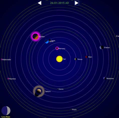 planets today solar system  calendar
