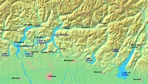 Cartina Muta Laghi Italiani