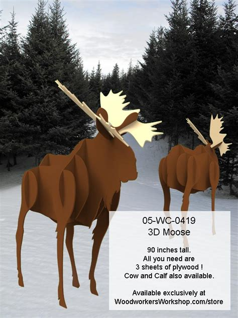 moose  life size yard art woodworking pattern