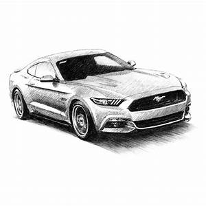 My drawing of the 2015 Ford Mustang GT : Autos