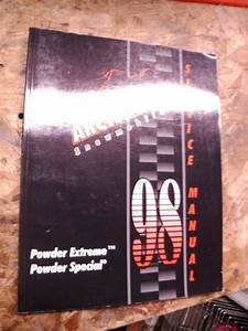 1998 Arctic Cat Powder Extreme Special Snowmobile Factory Service Manual