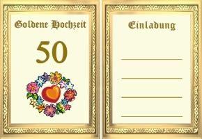 glückwunschkarten zur goldenen hochzeit goldene hochzeit einladung