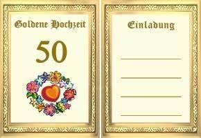 Glückwunschkarten Zur Goldenen Hochzeit : goldene hochzeit einladung ~ Frokenaadalensverden.com Haus und Dekorationen