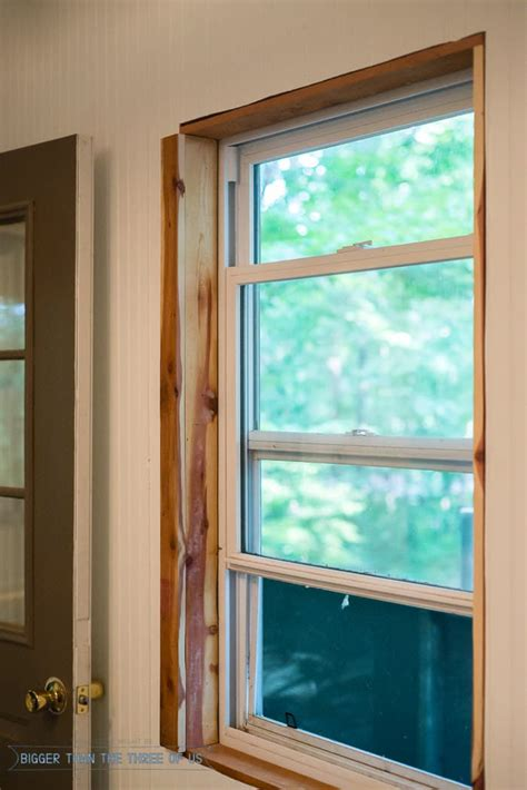 installing trim baseboards windows door walls  ceilings   cabin bigger
