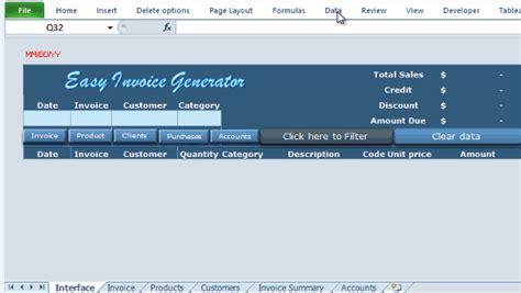 excel vba invoice generator easy invoice generator