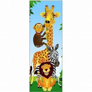 Stickers Animaux De La Jungle : sticker de porte enfant animaux de la jungle art d co stickers ~ Mglfilm.com Idées de Décoration