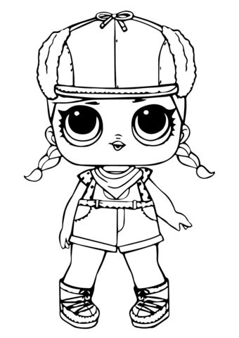lol doll brrr   coloring page  printable