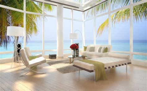 sea view apartment design hd wallpaper
