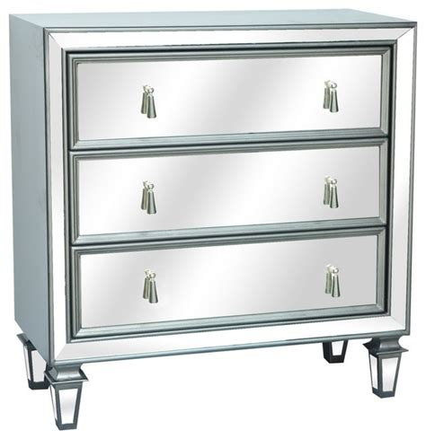 hollywood mirrored accent cabinet crestview cvfzr930 hollywood 3 drawer gunmetal mirrored