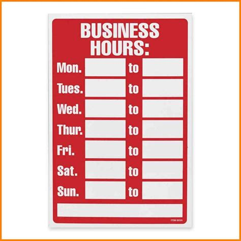 office will be closed sign template 8 office hours template g unitrecors