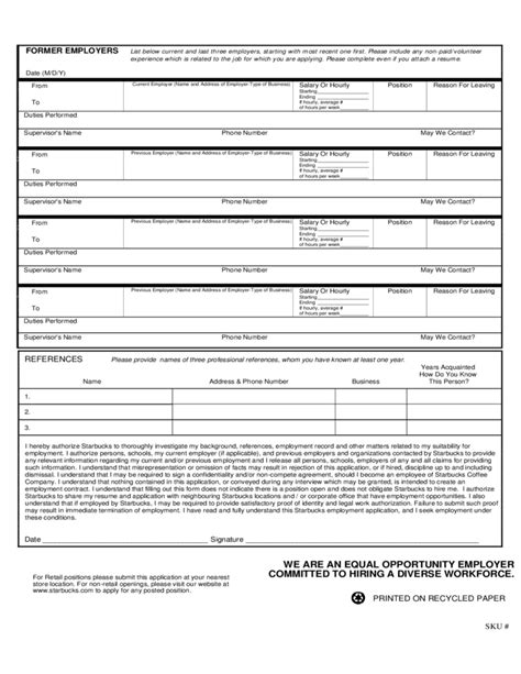 Starbucks Application For Employment Form Free Download. Letter Sample Word Doc. Curriculum Vitae Higher Education. Resume Cover Letter Lpn. Cover Letter Template Victorian Government. Curriculum Vitae Formato Ejemplo Pdf. Cover Letter Examples For History Teachers. Free Resume No Sign Up. Resume Cover Letter Example To Unknown Recipient