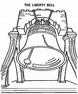 Bell Liberty Coloring Printable Drawing Sketch Monuments Getdrawings Bestcoloringpagesforkids sketch template