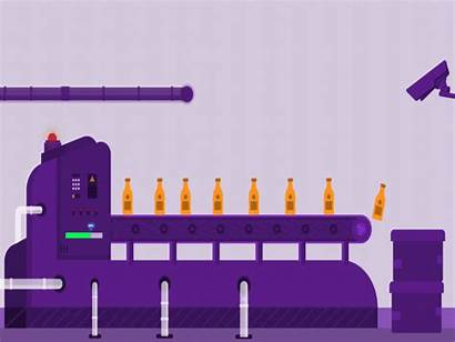 Factory Dribbble Animated Effects Alert