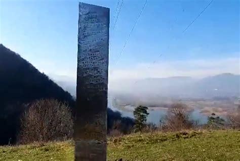 weird silver monolith   utah   appeared  romania