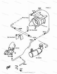 Kawasaki Jet Ski 1989 Oem Parts Diagram For Cooling