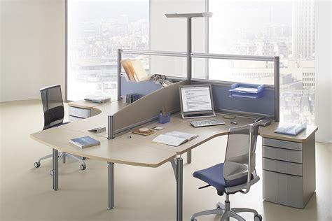 bureau pour 2 mobilier call center au sein d 39 un open space bureaux