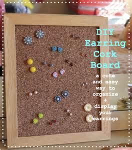 earring stud holder blondi make it monday diy earring cork board
