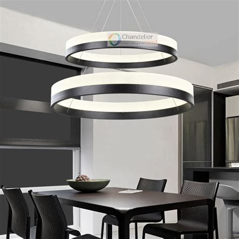 contemporary dining room ceiling lights two sizes modern contemporary 2 rings pendant light